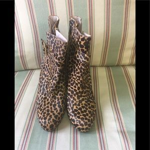 Vince Camuto Cow Hair Wedge Boots.  NWOT.